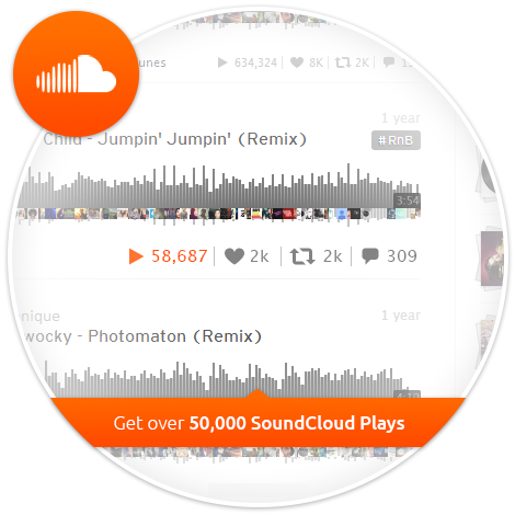 500 free plays on soundcloud