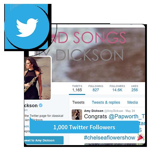 1k followers - Twitter