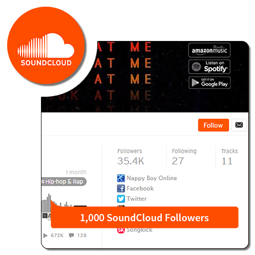 1k Followers - Soundcloud