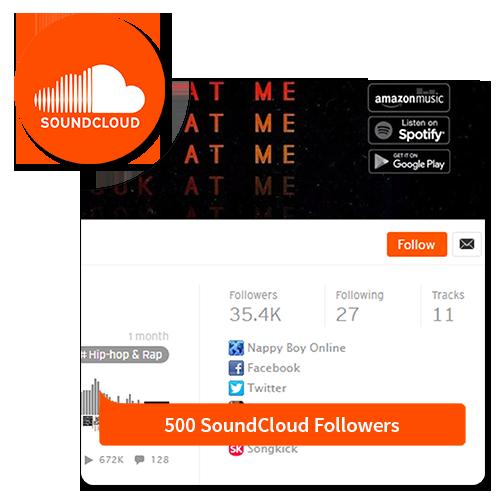 500 Followers - Soundcloud