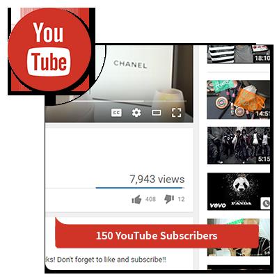 150 youtube subcribers