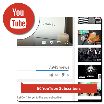 50 youtube subcribers