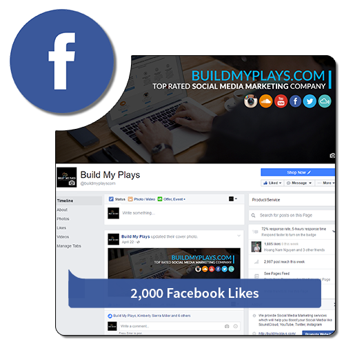 2000 Likes - Facebook