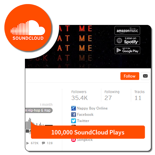 100k play - Soundcloud