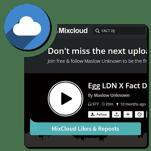 Like-Repost-Mixcloud