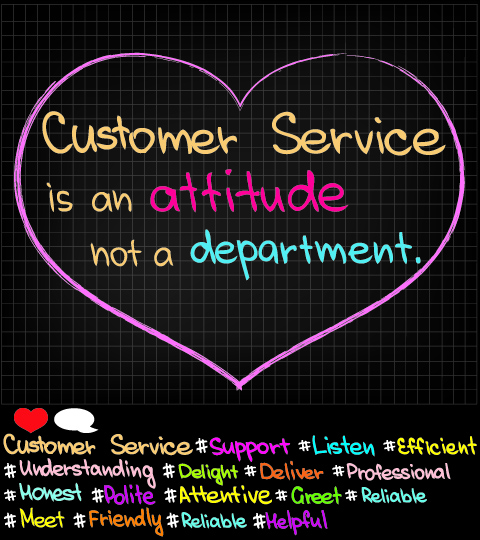 Customer Service Approach pictures in social media