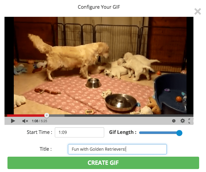 make GIFs from youtube
