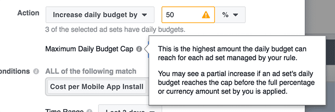 Facebook Automated Rules