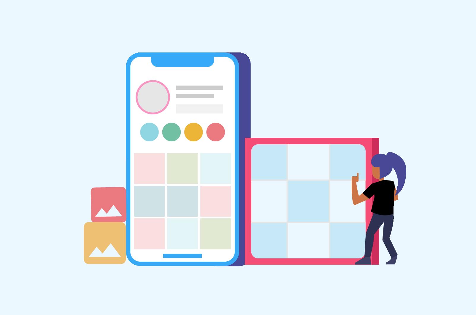 designing Instagram grid